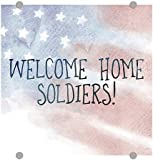 CGSignLab | Inner Circle ''Welcome Home -Watercolor -Square'' 3mm Premium Aluminum Sign with Brushed Aluminum Edge-Grip Stand-Offs (5-Pack) | 16''x16''