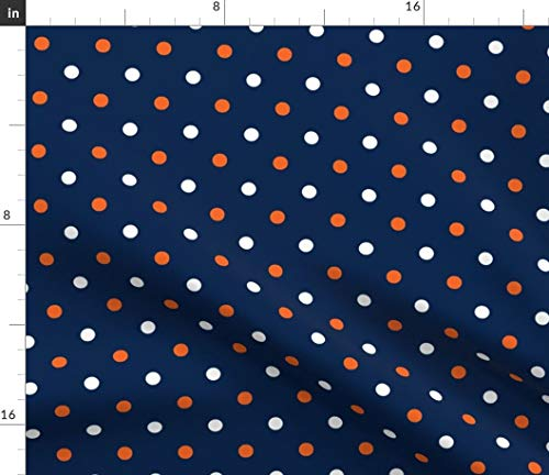- Spoonflower Auburn University Fabric - Auburn Alabama Tigers Polka Dot Navy and Orange by Rick Rack Scissors Studio Printed on Petal Signature Cotton Fabric by The Yard