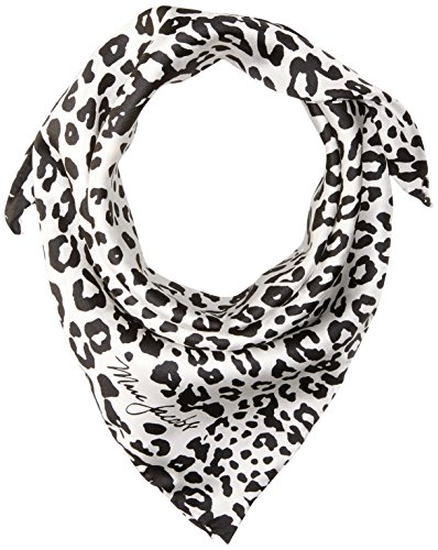 Marc Jacobs Women's Leopard Square Scarf, black/white, One (Marc Jacobs Designer Scarf)