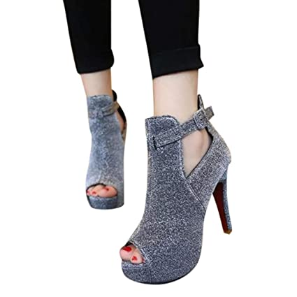 Sandals for Women Bummyo Women s Sandals Party Shoes Women s Open Toe  Sandals Women s High Heels Fashion 100374f165f5