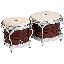 Latin Percussion M201-ABW LP Matador Wood Bongos - Almond Brown/Chrome