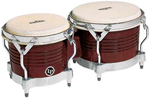 Latin Percussion M201-ABW LP Matador Wood Bongos - Almond Brown/Chrome by Latin Percussion
