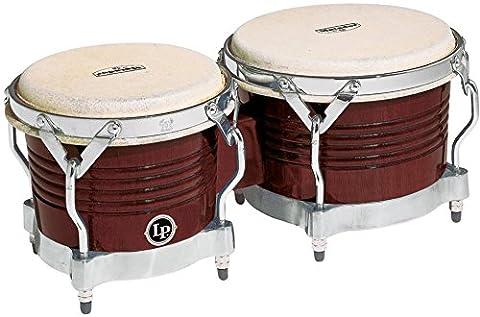 Latin Percussion M201-ABW LP Matador Wood Bongos - Almond Brown/Chrome (Lp Matador Stand)