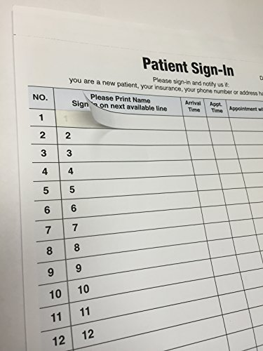 1 patient sign in label forms 125 sheet s hipaa. Black Bedroom Furniture Sets. Home Design Ideas