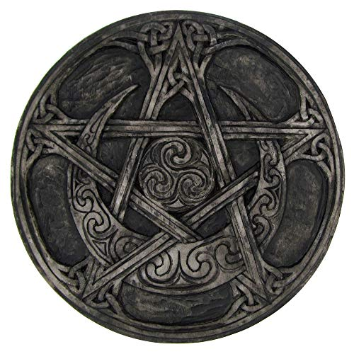 - Dryad Design Moon Pentacle Plaque Stone Finish