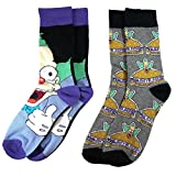 simpson merchandise - Official The Simpsons Krusty the Clown Assorted Socks (2 Pairs) - One Size