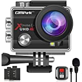 【2020 Upgrade】 Campark 4K 20MP Action Camera EIS External Microphone Remote Control WiFi Waterproof Camera with 170° Wide Angle and 2 Batteries