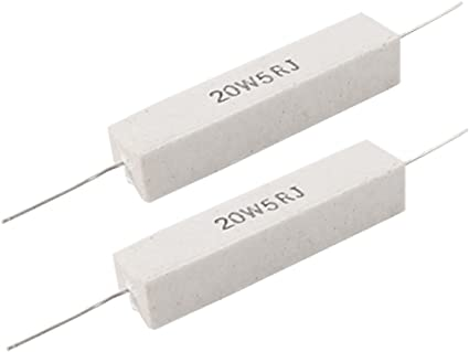 sourcingmap 2 Pcs Aluminum Case Resistor 5W 10 Ohm Wirewound for LED Replacement Converter 5W10RJ