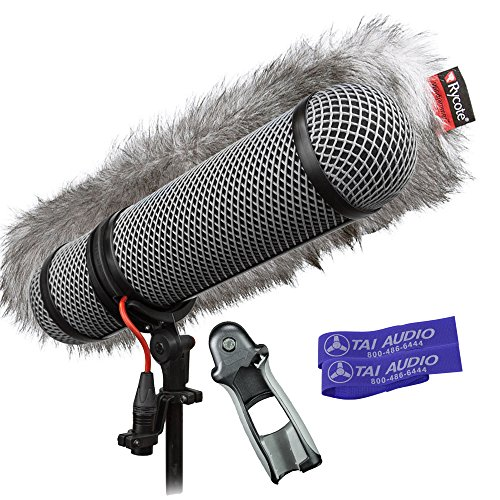 - Rycote Super-Blimp Windshield Kit for Sennheiser MKH416 Shotgun Mic with (2) TAI Audio Cable Straps