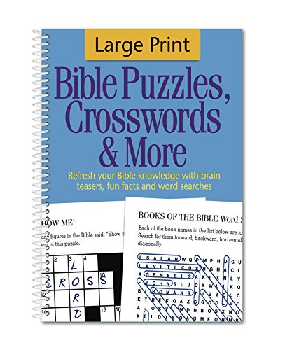 Large Print Bible Puzzles, Crosswords & More Bible Games Puzzles