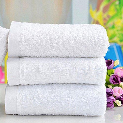 bazaar-60x30cm-white-soft-cotton-bath-towel-absorbent-travel-gym-camping-sport-towel
