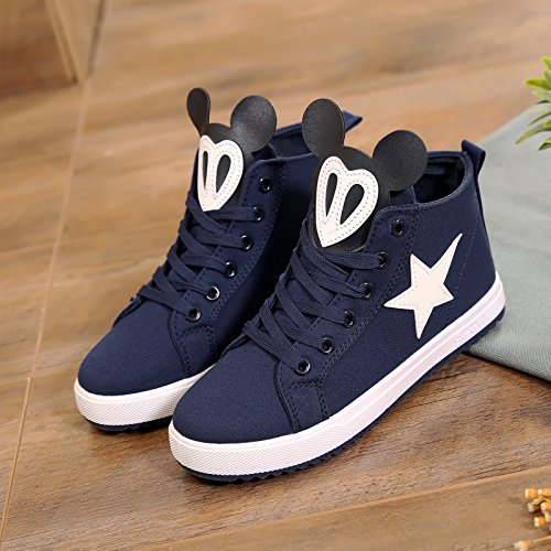 Tablero de azul Zapatos mujer Alta de Verano de de de Mujer lona Zapatos Ocio Zapatos Zapatos Primavera Zapatos de de Gang Tablero Tablero GTVERNH Zapatos Zapatos de pqOxfz