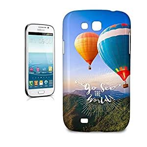 Phone Case For Samsung Galaxy Grand GT-I9128 - Go See The World Travel Glossy Wrap-Around