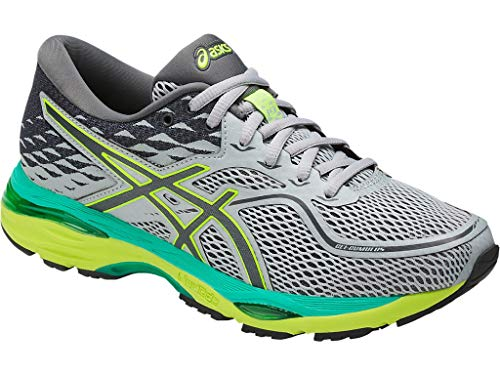 ASICS Womens Gel-Cumulus 19 Running Shoe, Mid Grey/Carbon/Safety Yellow, 8.5 Medium US