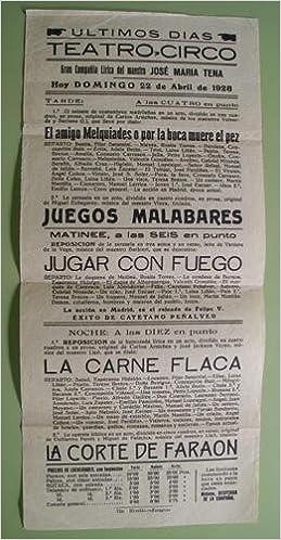 CARTEL - POSTER : TEATRO - CIRCO Compañía Lírica José María ...