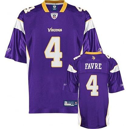 4f6de5f0e8e Amazon.com   Reebok Minnesota Vikings Brett Favre Replica Jersey ...