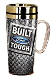 Spoontiques 17283 Built Ford Tough Insulated Travel Mug, Gray