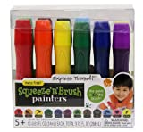 Painters Squeeze 'N Brush Washable Tempera Paint Brushes, Set of 12 Color Brushes (E114)