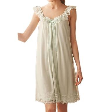 41abbf3772 Women s Sleepwear Lace Nightdress Victorian Vintage Nightgown Loungewear  Pajamas at Amazon Women s Clothing store