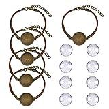 DROLE Adjustable Bracelet Blank Bangle Kit Bezels