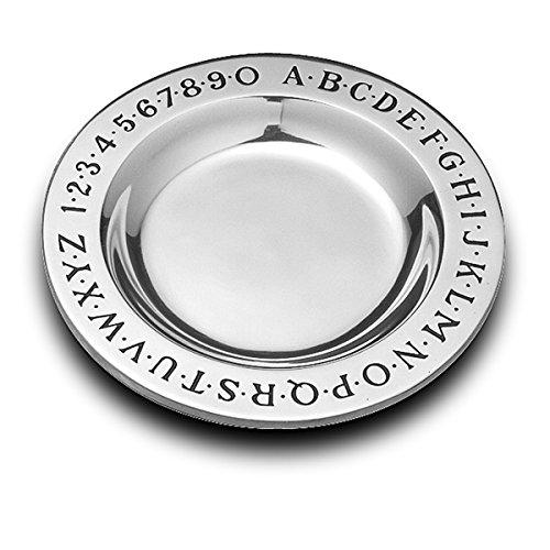 Wilton Armetale Alphabet Round Serving Plate, 9-Inch ()