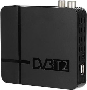 Receptor de TV Digital, Mini HD DVB-T2 K2 STB USB2.0 Receptor de Caja de TV Digital Multimedia para el hogar Soporte NTSC FAT32 FAT16, Compatible con códec H.264 (MPEG-2/4): Amazon.es: Electrónica