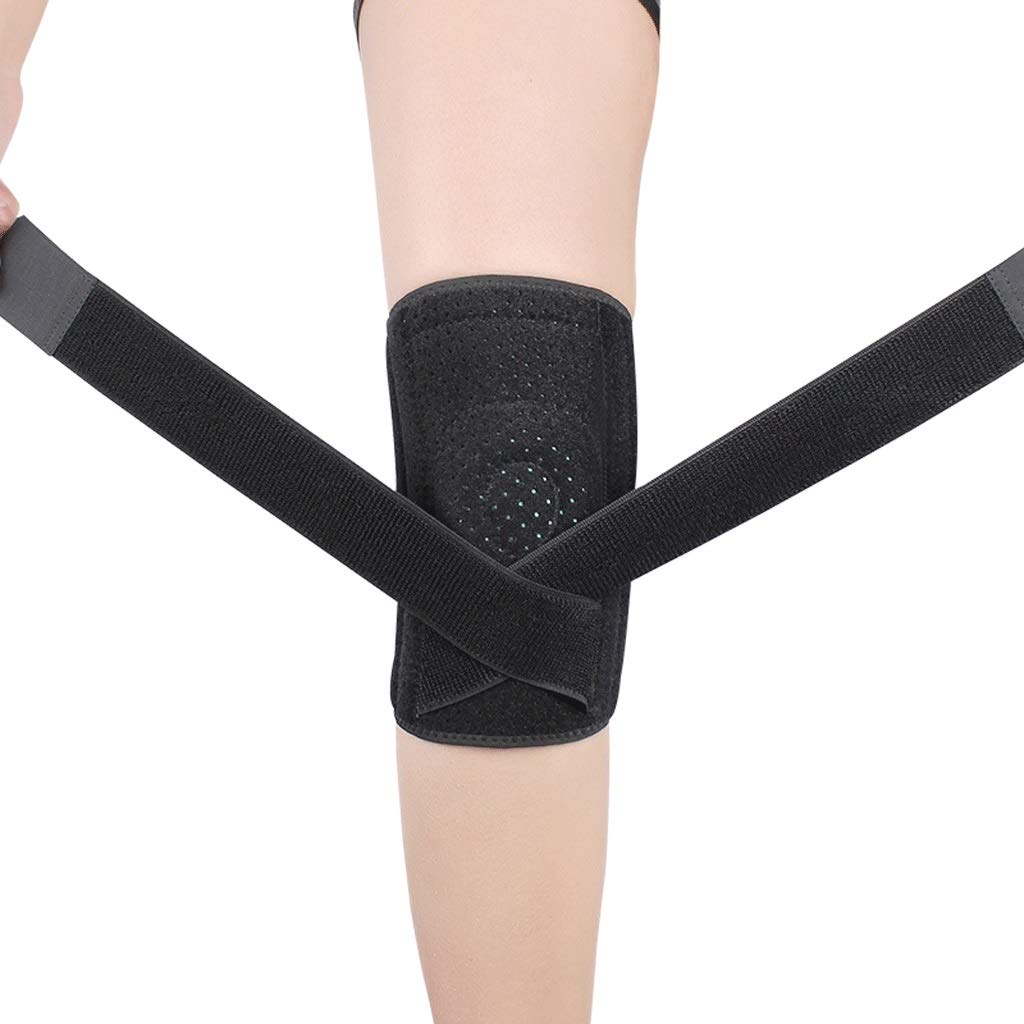 Kneepad Knee Support Sports Men and Women Fitness Running Basketball Knee Injury Leg Protectors (Size : L)