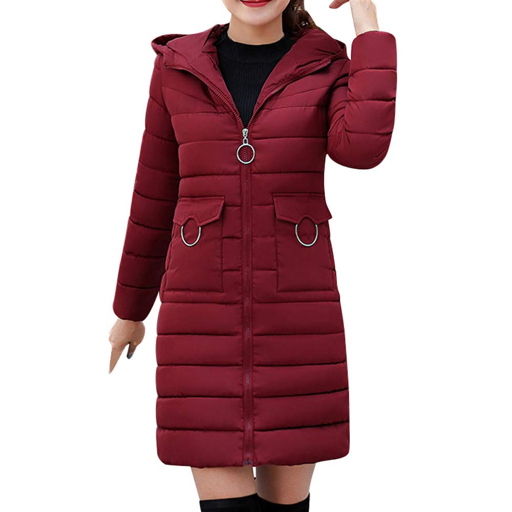 Amazon.com: iOPQO Down Jacket for Women, Winter Cloak Faux ...