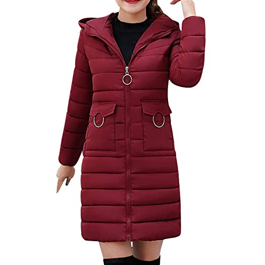 Amazon.com: AOJIAN Women Jacket Long Sleeve Outwear Thick Hooded Hairball Zipper Pocket Puffer Solid Coat: Clothing