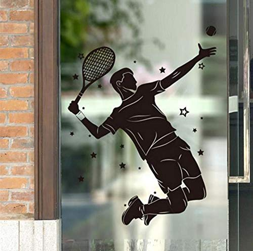 qzheng Male Tennis Player Wall Sticker Vinyl DIY Mural Art Living Room Children's Room Gym Decoration 90 X 120Cm (Best Male Tennis Players Of All Time)