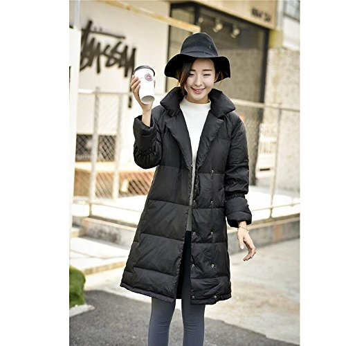 Puffer Down XFentech Lapel Black Jacket Coat Womens Down Ladies Winter qrqvWpTEnF