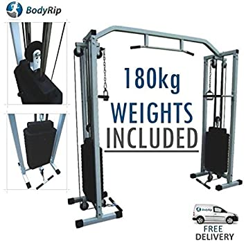 Bodyrip power cable crossover machine home gym equipment workout