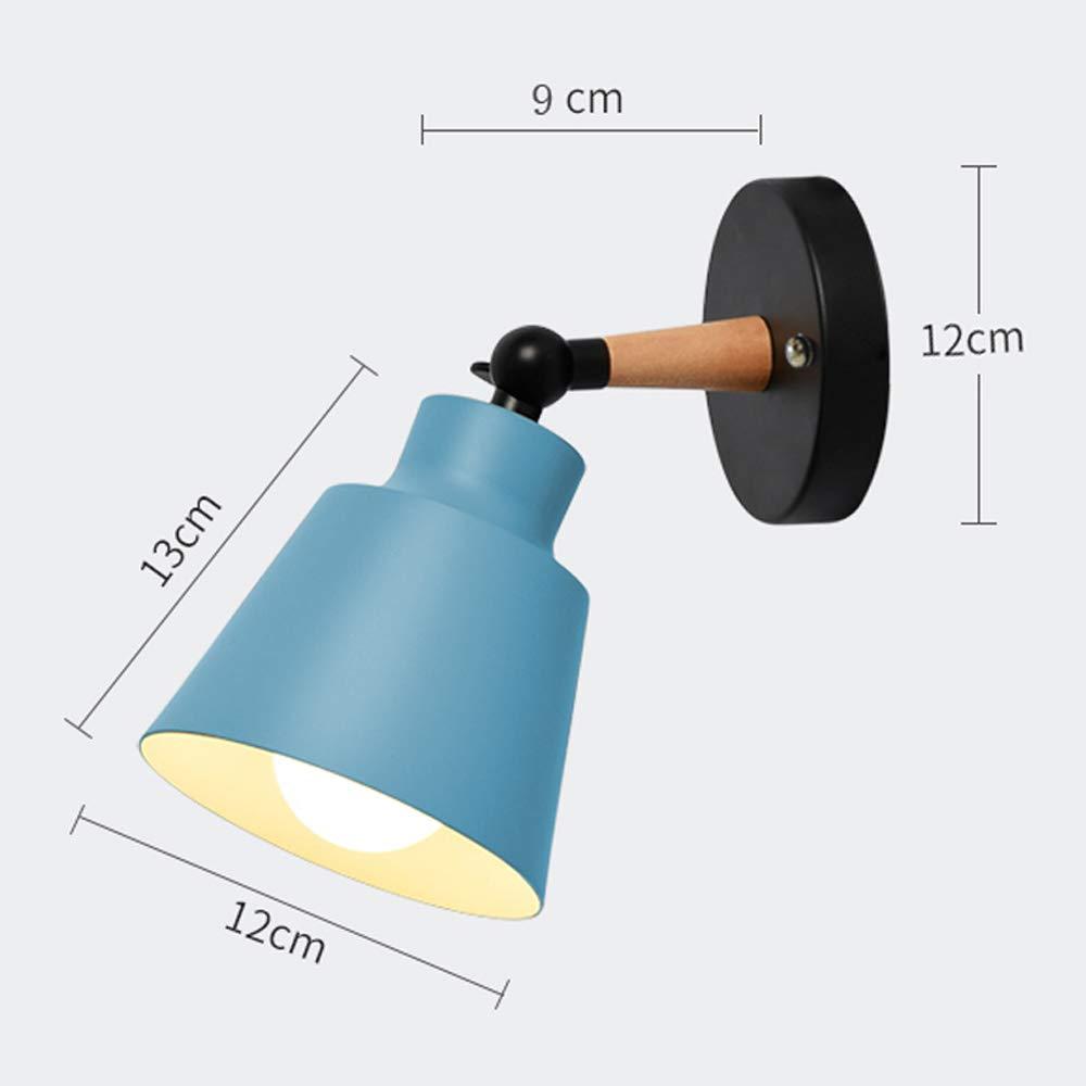 Color : Black Wall Light fixtures Nordic Wall Sconce Lamps Macaron Edison Copper lamp Holder Aisle Lights Corridor Lamp Bedside Reading Light E27