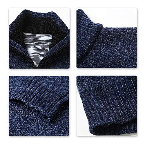maniche uomo 1 grigio lunghe Pullover a maglia da lavorato maniche Allthemen lunghe a fFqv1w0q
