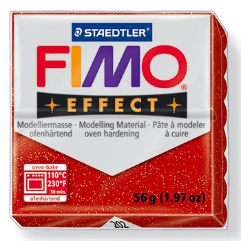 (Fimo Soft Effect Glitter Red 2oz)
