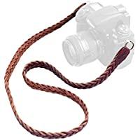 b.still Braided Leather Camera Neck Strap - Fits Film DLSR Leica Canon Nikon Fuji Olympus Lumix Sony + FREE Lens Bag