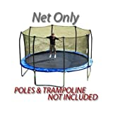 Net for 15ft Trampoline Enclosure using 8 Poles and Straps