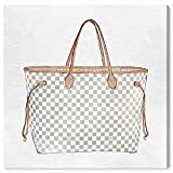 "The Oliver Gal Artist Co. Fashion and Glam Wall Art Canvas Prints 'Royal Handbag Ivory' Home Décor, 36"" x 36"", White, Brown"