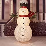 60 IN. UL POP-UP SNOWMAN WITH RED SCARF SCULPTURE