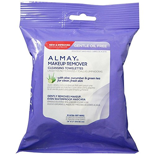 - Almay Makeup Remover Cleansing Towelettes, Oil-Free 25 ea (Pack of 2)