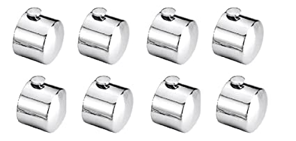 A & Y Traders SS finial Only (Cap) Set of 8 Finial (No Bracket)