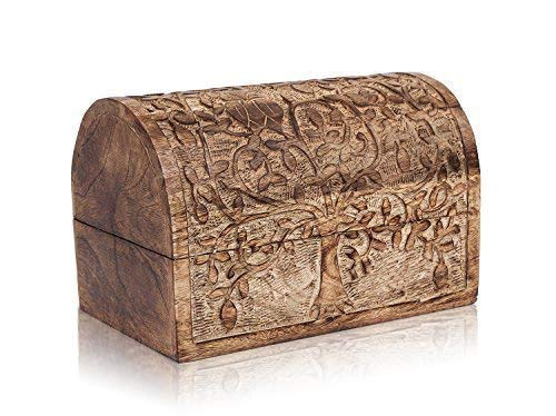 The Great Indian Bazaar - Caja de Madera Decorativa Hecha a Mano ...