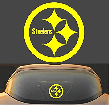6 pittsburgh steelers vinyl decal sticker high quality for car truck window laptop