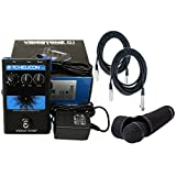 TC Helicon VoiceTone Single C1 Vocal Pitch-Correction Effects Pedal w/TC Helicon MP-75 Microphone and 2 FREE (20') XLR Cables