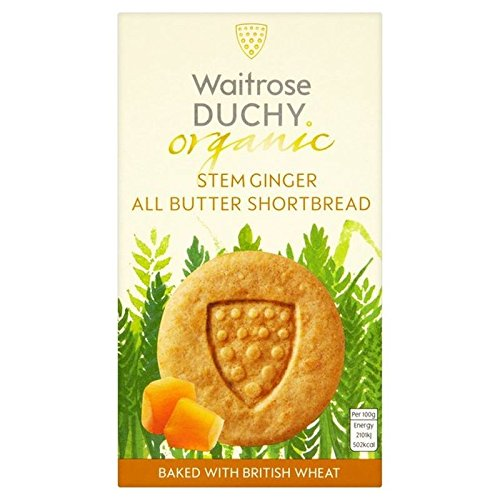 Duchy Waitrose Organic All Butter Stem Ginger Shortbread 150g (Pack of 2)