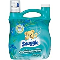 2-Pack Snuggle Exhilarations Blue Iris/Bamboo Silk Aqua Liquid Fabric Softener (96oz) + $5 Gift Card