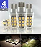 SRRB Direct 2.5W LED Replacement Landscape Pathway Light Bulb 12V AC/DC Wedge Base T5 T10 for Malibu Paradise Moonrays and More (4 Pack, Natural White)