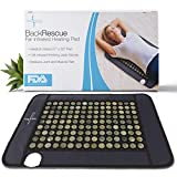 Backrescue by Dr. James Far Infrared Heating Pad Mat| Fast Pain Relief| Negative Ion| 135 Jade Stones| Medium Covers Full Spine 21'' X 32"