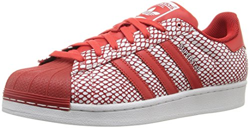 adidas Originals Men's Superstar Snake Pack Fashion Sneaker, Red/Red/White, 11 M US
