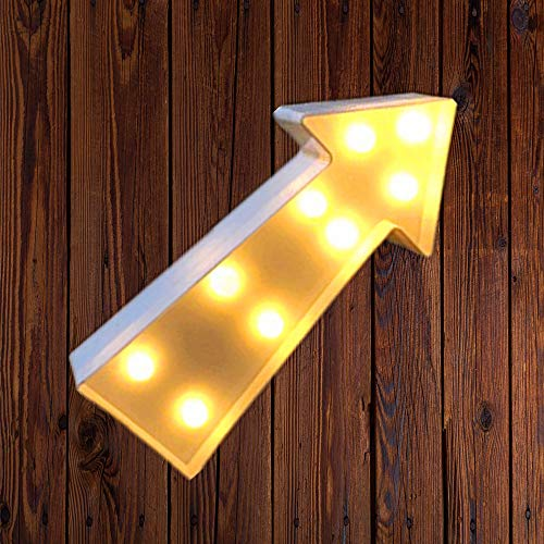 - Arrowhead Design Marquee Sign Lights, LED Night Light Table Lamp Marquee Letter Lights Arrowhead Shape Signs Light Up Christmas Party Home Decoration Battery Operated